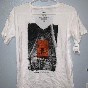 "Tops - justin timberlake v neck ""man of the woods"" shirt"